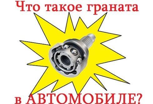 Что такое граната в автомобиле картинка