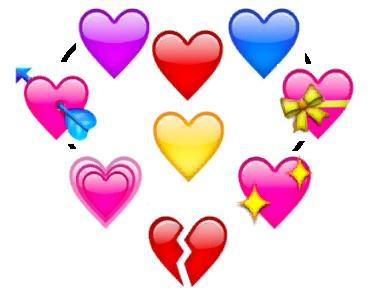 Значение смайликов сердечек в мессенджерах картинка