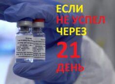 можно ли вторую прививку от коронавируса сделать позже чем через 21 день
